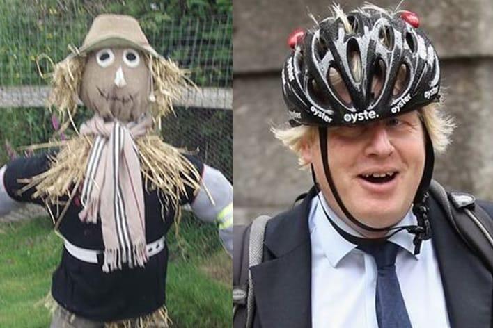 boris johnson scarecrow