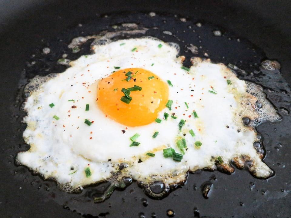 fried egg on car
