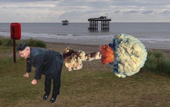 Kim Jong Un nuclear explosion in Suffolk