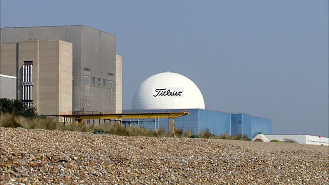 Sizewell power station golf ball