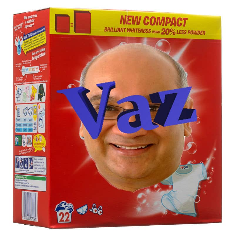 Keith Vaz washing powder