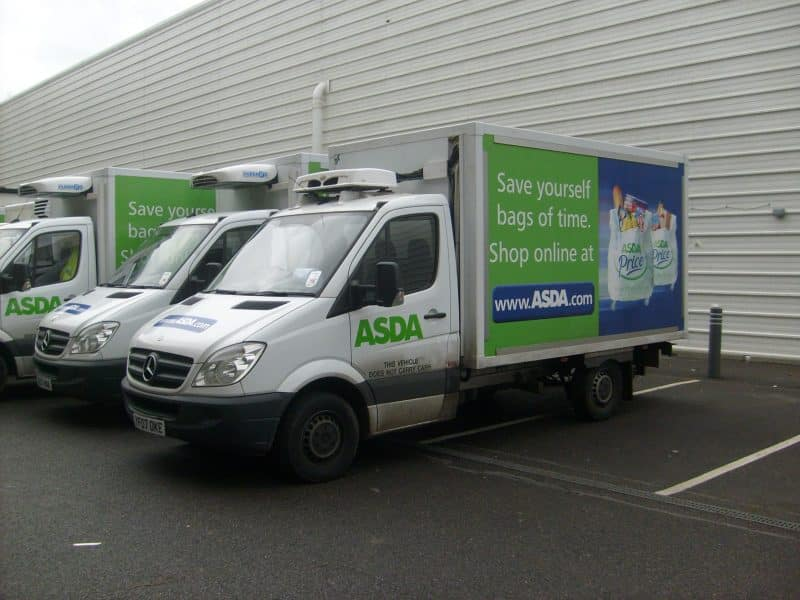 Not for Aldeburgh: a normal common Asda van