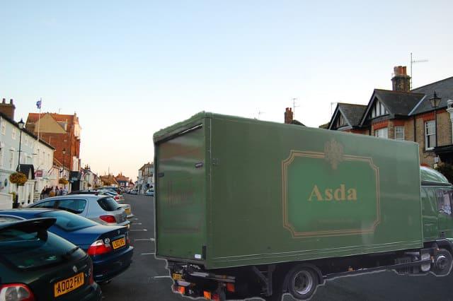 Posh Asda van