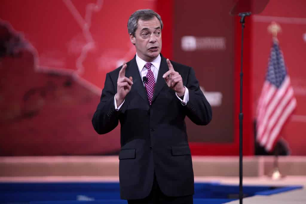 Nigel Farage on the BBC