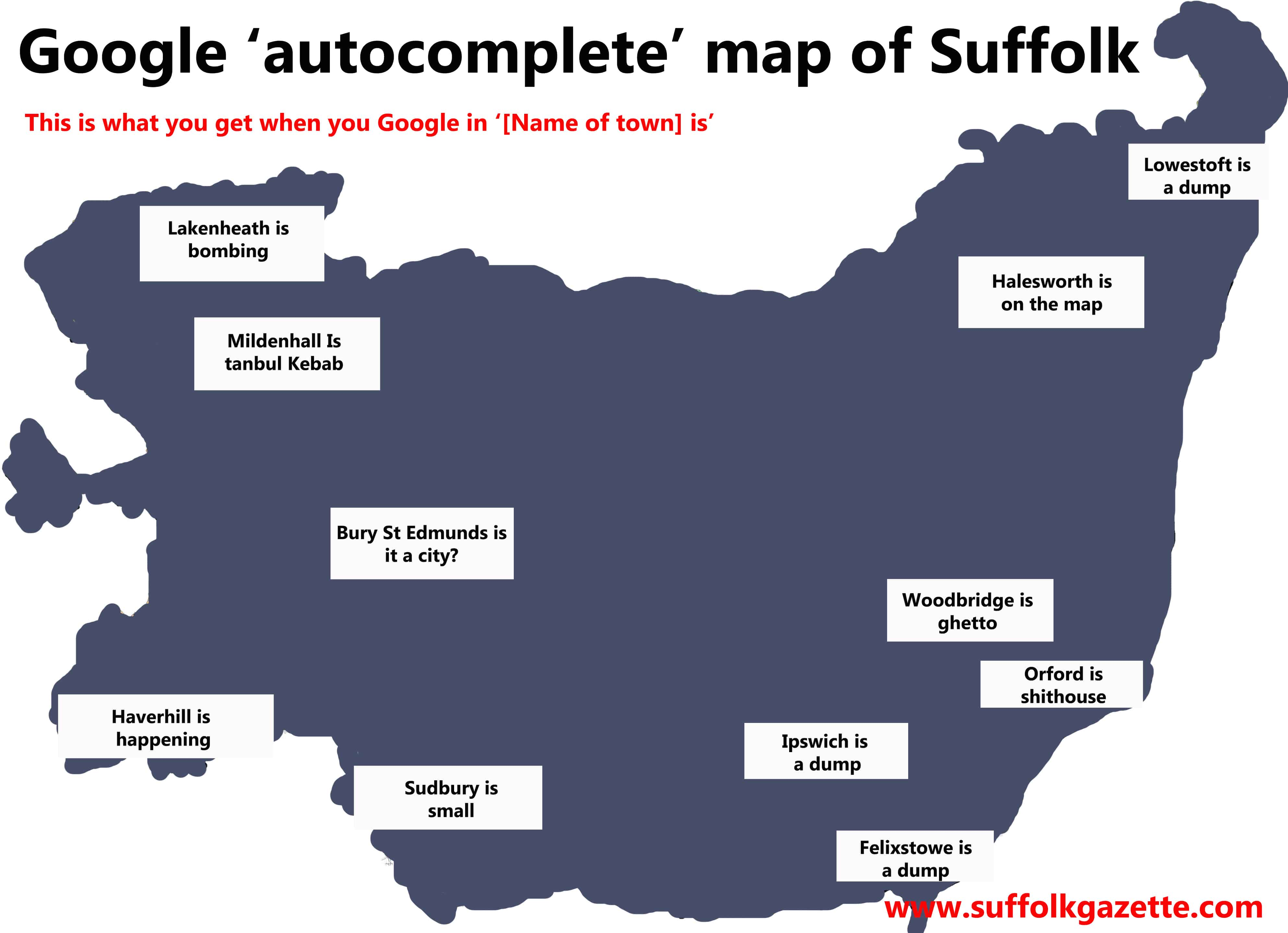 Google map of Suffolk