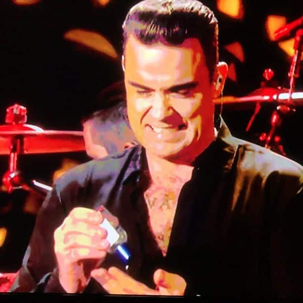 Robbie Williams hand gel