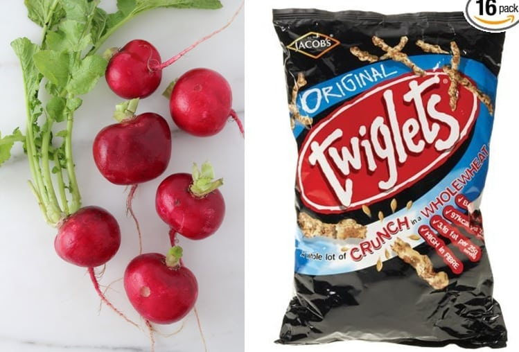 Swap radishes for Twiglets to avoid vegetable crisis