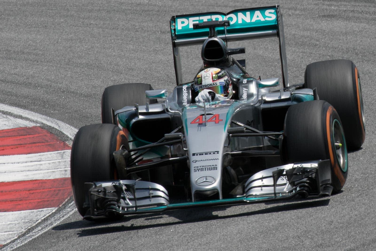 Lewis Hamilton's Mercedes F1 car