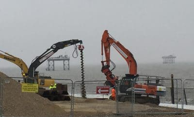 Drilling for oil at Sizewell