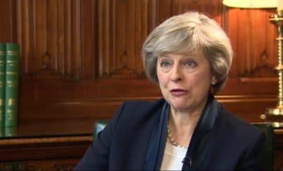 Theresa May speaks at Latitude