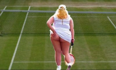 Tennis girl bum
