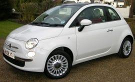 Man drives Fiat 500