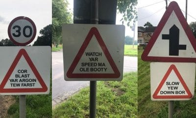 Norfolk road speed signs