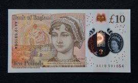 Jane Austin ten pound note