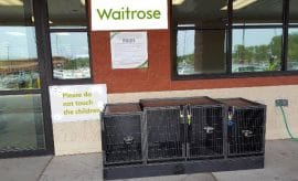 Waitrose child cages