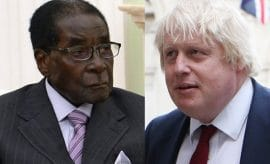 Boris Johnson and Robert Mugabe