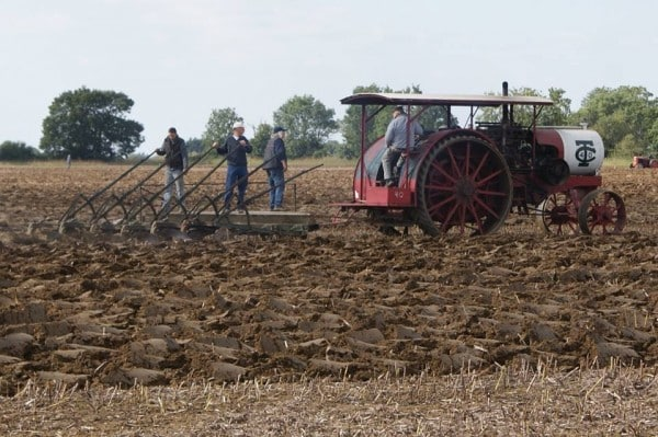 tractor surfing is a popular sport for old farmers in Suffolk
