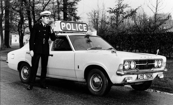 Ford cortina police car