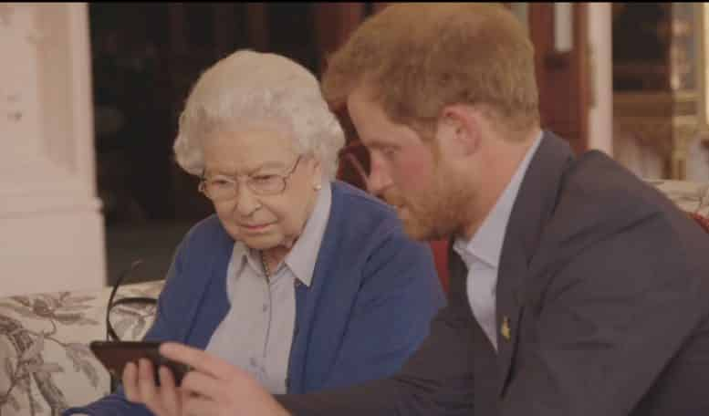 The Queen Prince Harry video
