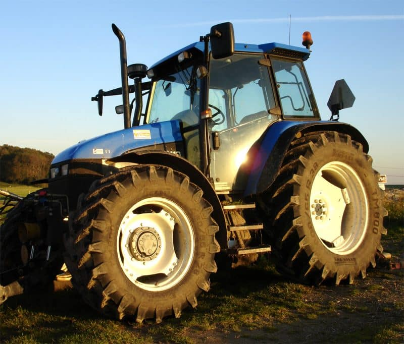 One of the driverless tractors in action in Suffolk