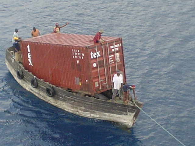 World's smallest container ship