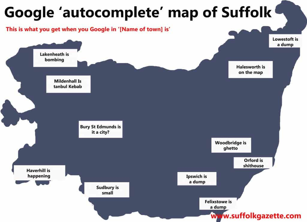 Google map of Suffolk