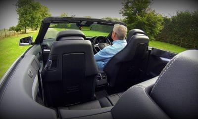 Man shows off convertible car