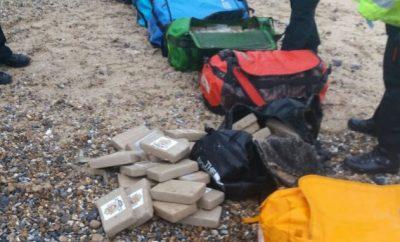 Drugs on Norfolk beach