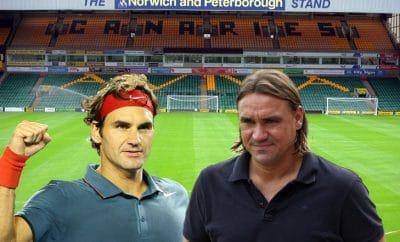 Daniel Farke and Roger Federer