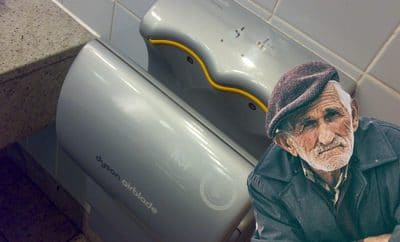 Dyson hand dryer lavatory