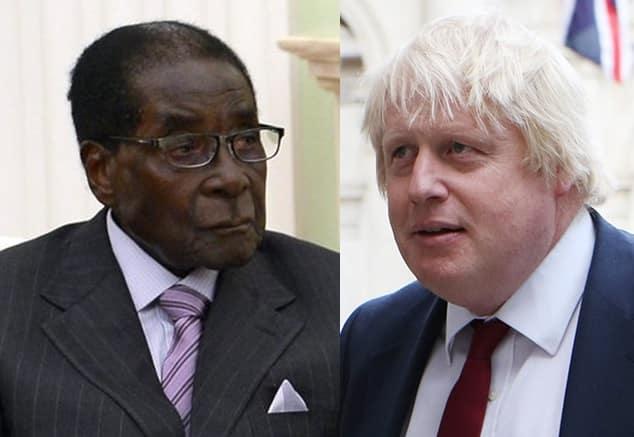 Boris Johnson and Robert Mugabe