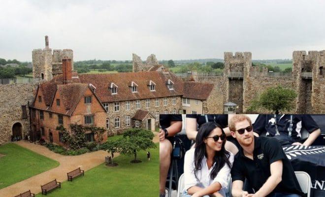 Prince Harry Meghan Markle at Framlingham Castle