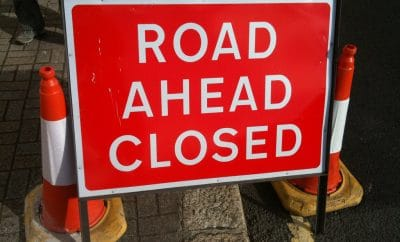Road ahead closed
