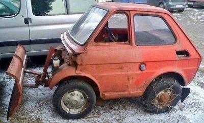 snow plough in Norfolk