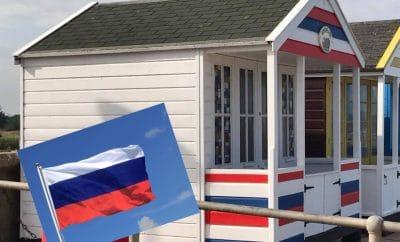 russian beach hut